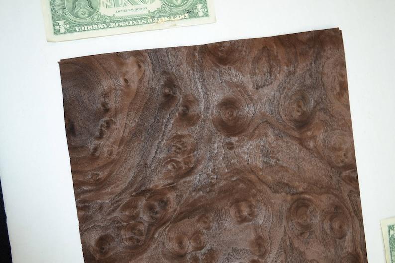 Walnut Burl Raw Wood Veneer Sheet 12 x 10 inches 142nd or .6mm thick