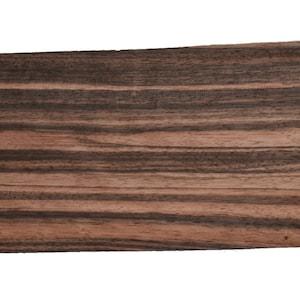 Bubinga Raw Wood Veneer Sheets 9 x 27 inches 142nd or .6mm thick