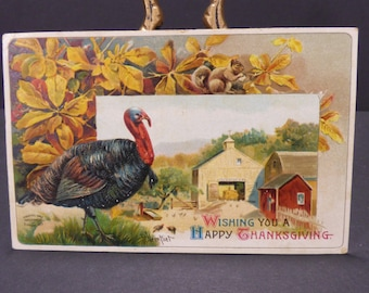 Early 1900's Thanksgiving postcard