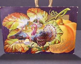 1909 Thanksgiving postcard