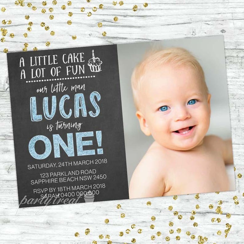 Boys 1st Birthday Invitation First