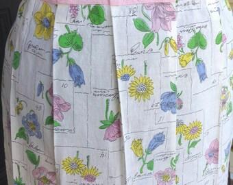 Pleats and Petals Vintage Apron