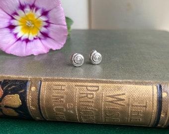 Sterling Silver Mini Shell Stud Earrings