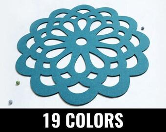 Felt placemat, modern placemat, stylish placemat, table placemat, round, 19 colors - Vera