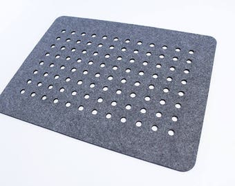 Felt placemat, modern placemat, stylish placemat, table placemat, 19 colors - Dotted