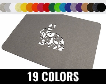 Easter placemat, modern placemat, stylish placemat, easter table placemat, 19 colors - Bunny