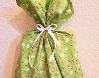 Candy Cane and Snowflake Gift Bag