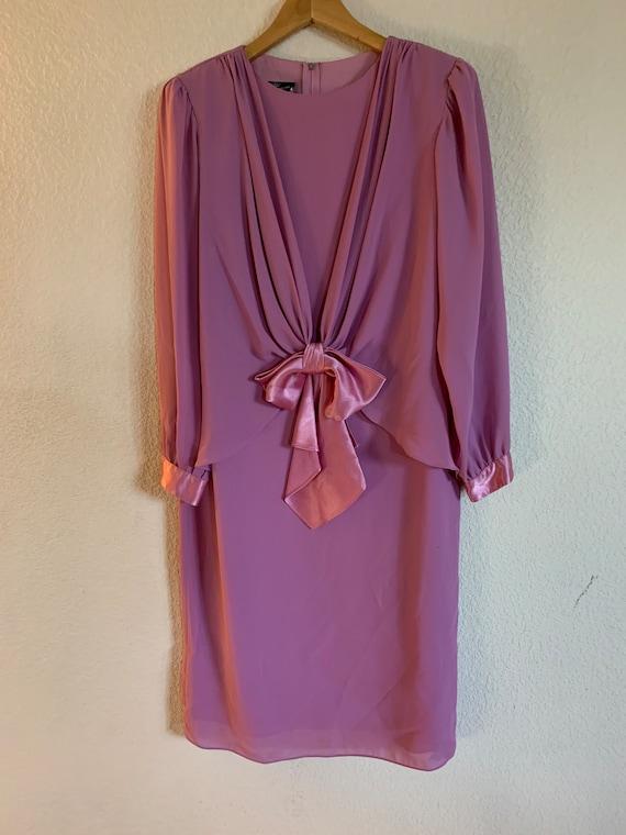 Ursula of Switzerland Pink Dress with Satin Bow