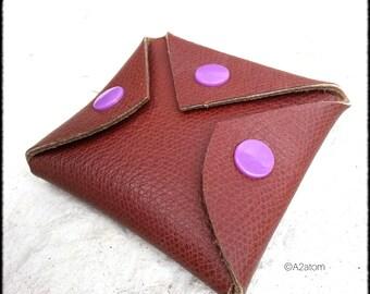 Leather wallet Brown genuine cowhide