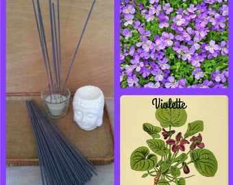 Incense violet scent stick with natural essential oils - cover of 20 sticks