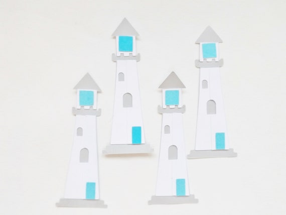 Lighthouse Nautical Paper Embellishments Scrapbook Card Making Toppers Paper Craft Supplies