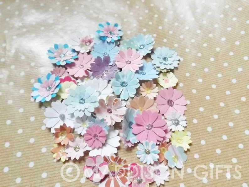 Flower Scrapbook Embellishments Card Making Toppers Floral Paper Craft Supplies