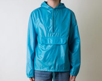 80's Windbreaker with Hood and Zip Pouch