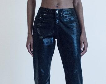 Glossy Vintage Faux Snakeskin Pants 7487fb5039b66
