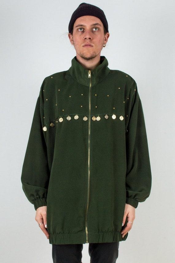 Silk Embellished Shirt Jacket