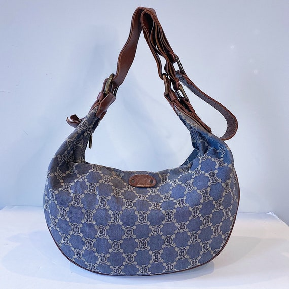 Vintage Celine Denim Hobo Bag