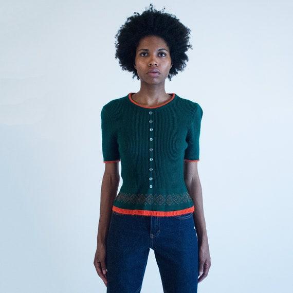 Vintage Short Sleeve Sweater