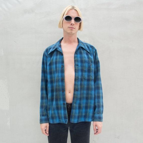 Vintage Distressed Pendleton Wool Flannel Shirt