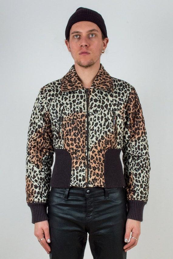 Cheetah Cropped Puffer Jacket