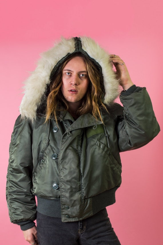 Vintage Cropped Army Parka