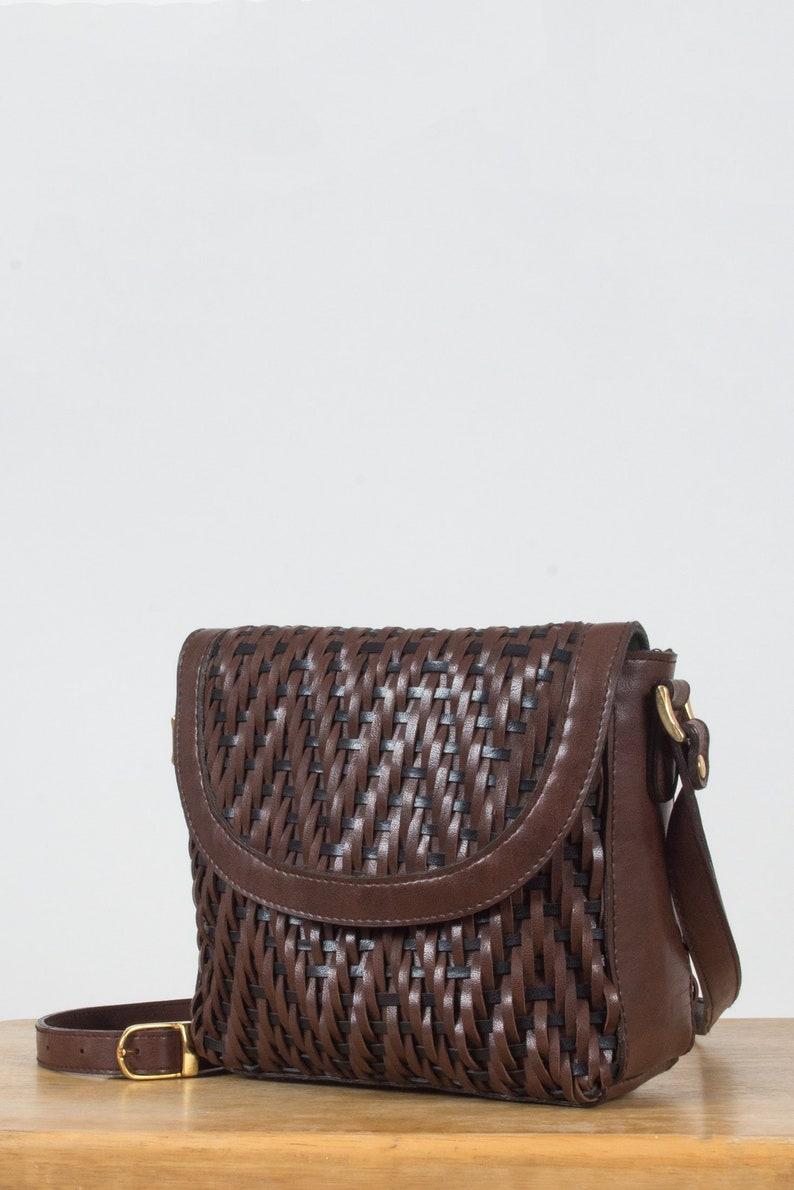 8544fa0067da Woven Leather Crossbody Bag