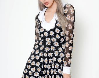 Daisy Mesh Baby Doll Dress