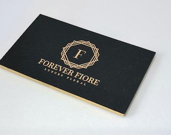 Luxury business card etsy luxury black rose gold business card design printing black and gold business card colourmoves