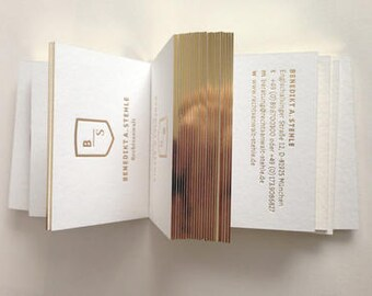 Letterpress business cards etsy luxury business card design and print business card with gold foil stamping and gold edge reheart Images
