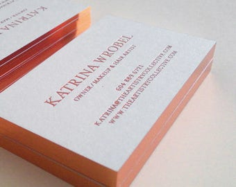 Foil business cards etsy luxury business card design and print business card with rose gold foil stamping and gold edge colourmoves