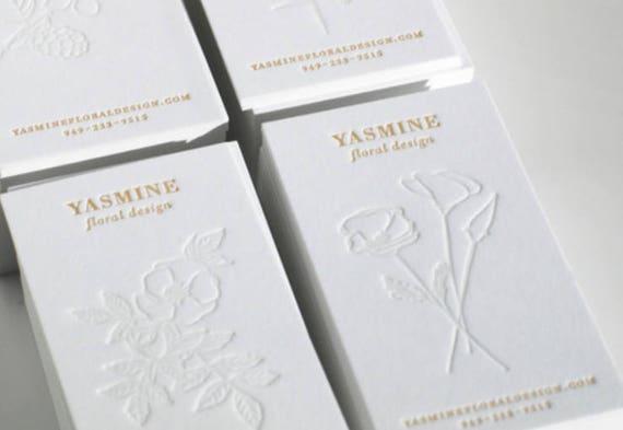 Luxus Weiß Visitenkarte Drucken Stanzen Visitenkarte Goldfolie