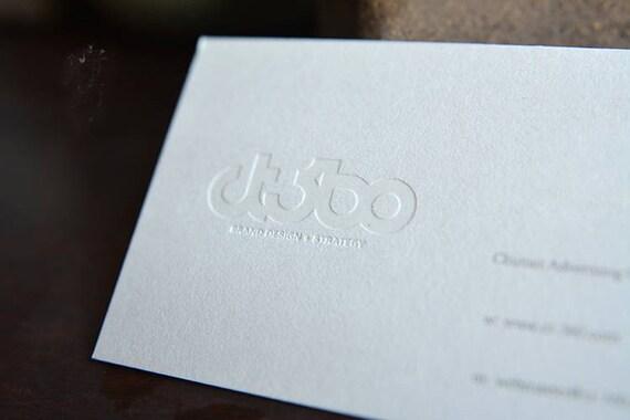 Minimal Und Stilvolle Blindprägung Visitenkarten Design Und Print Visitenkarten Mit Blindprägung