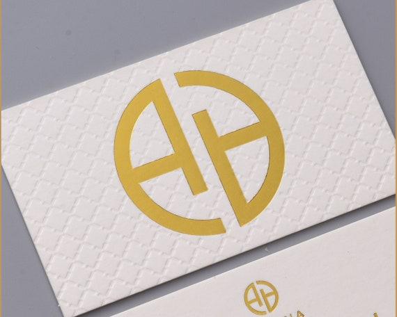 Luxus Weiß Visitenkarten Design Und Druck Buchdruck Visitenkarte Und Blind Prägen Muster Goldfolie Visitenkarte