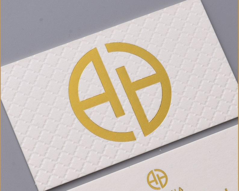 Conception De Carte Visite Luxe Blanc Et Impression