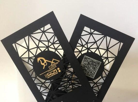 Laser Cut Schwarz Visitenkarte Design Und Druck Visitenkarte Mit Goldfolie Stempelung Laser Cut Visitenkarte