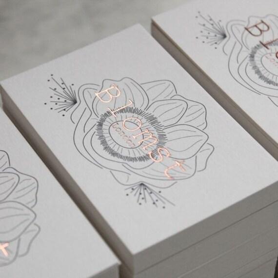 Luxus Blumen Visitenkarten Design Und Druck Visitenkarte Mit Goldfolie Stanz Und Gold Rand