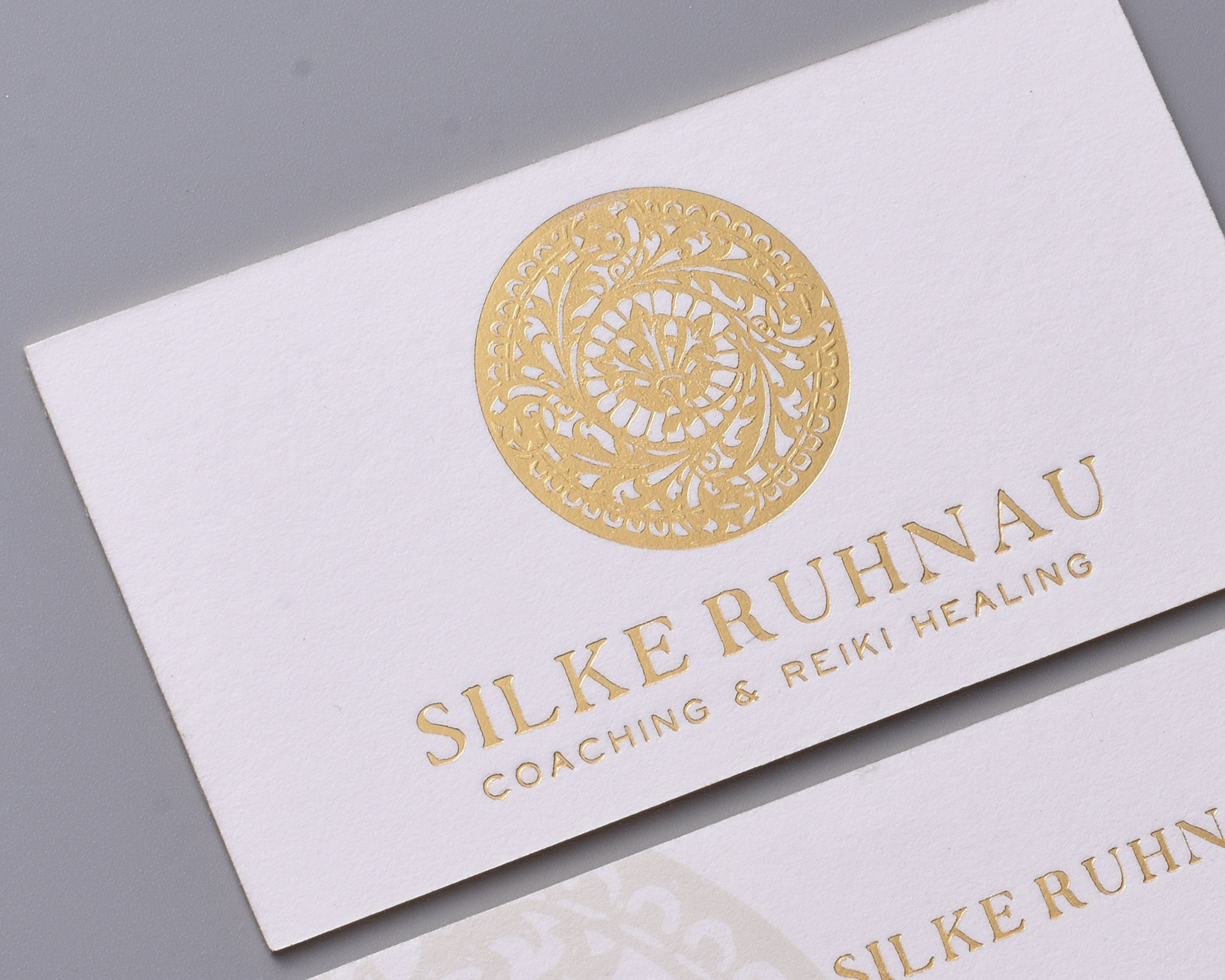 Luxury White Business Card Design And Print Letterpress Etsy