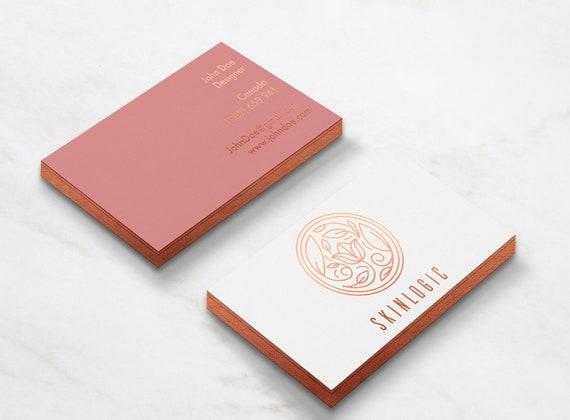 Luxus Orange Gold Visitenkarten Design Drucken Duplex Visitenkarte Gold Edge Visitenkarte Telefonkarte Maßanfertigung