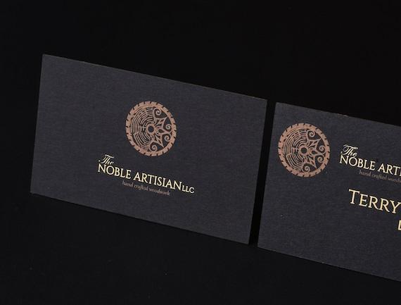 Luxus Schwarz Visitenkarte Drucken Visitenkarte Mit Goldfolie Stempeln Goldfolie Visitenkarte