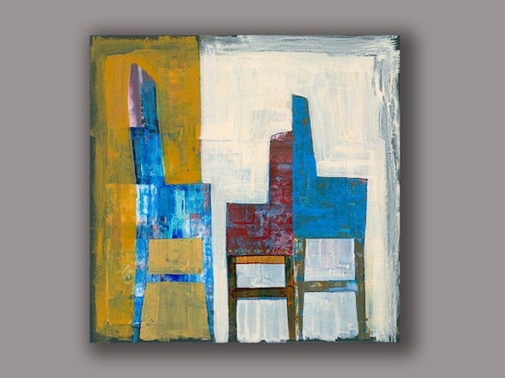 Terrific Modern Chairs High Quality Prints Contemporary Art Geometric Painting Colorful Acrylic Painting Modern Design Wall Art By Osshaart Machost Co Dining Chair Design Ideas Machostcouk