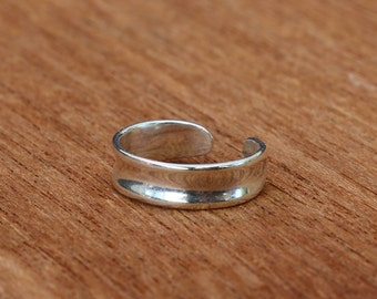 Sterling Silver Toe Ring, Toe Ring, Adjustable Silver Toe Ring, Simple Toe Ring, Sterling Silver Ring, Sterling Silver Jewellery