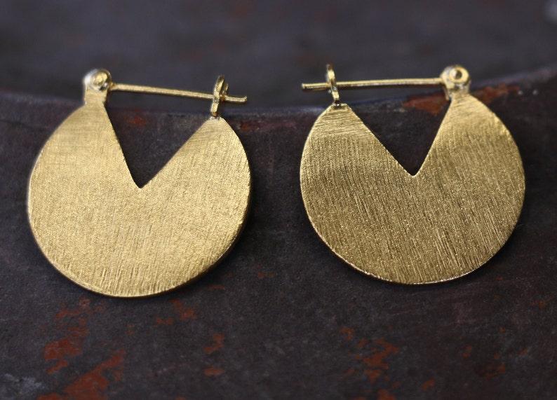 Gold Circle Hoop Earrings  Gold Filled  18k  Sterling image 0