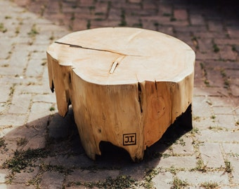 Custom Burned Out Stump Table