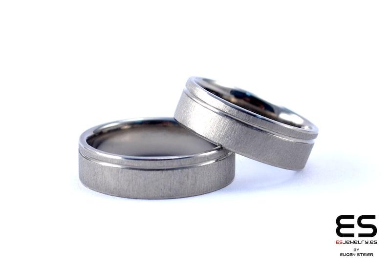 Wedding ring Wedding Band for women Titanium handmade unique modern design for Her