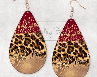 Blank Sublimation Large Animal Circle Earrings for Sublimation