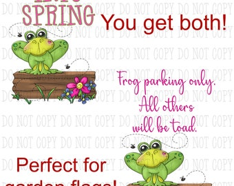 Spring Frog Sublimation PNG Digital Download