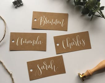 calligraphy gift tag etsy