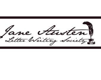 Jane Austen Letter Writing Society Letter Head, downloadable stationery
