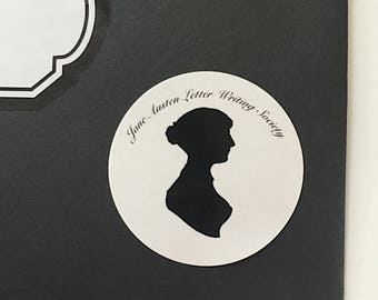 Jane Austen Silhoutte stickers set of 4