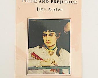 Post Card : Pride and Prejudice by Jane Austen,  Book Cover Post Card
