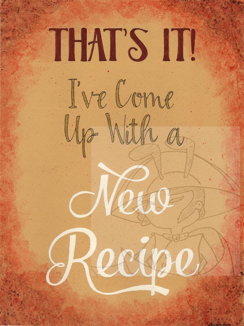 That's It! Digital Download Art Print - Final Fantasy XV - FFXV - Ignis  Recipe Quote - I've Come Up with a New Recipe / Recipeh